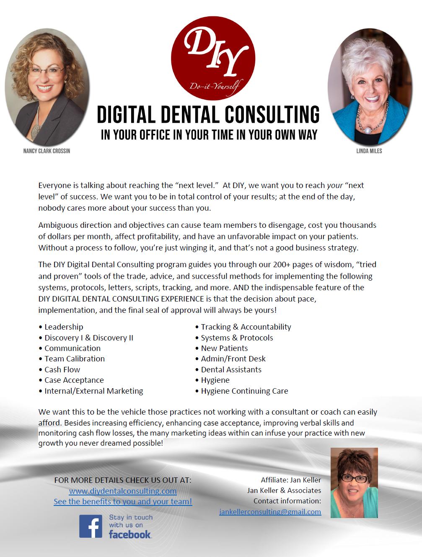 Jan Keller DIY Digital Dental Consulting